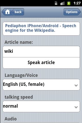 Pediaphon Android App screenshot