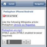Pediaphon HTML5 audio, iWebkit touch interface.